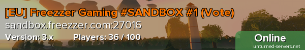 [EU] Freezzer Gaming #SANDBOX #1-1 (Vote)